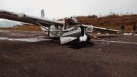 Pesawat Kargo Kecelakaan di Bandara Aminggaru Ilaga Papua