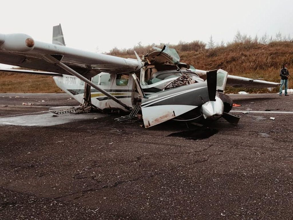 Pesawat Kecelakaan di Bandara Ilaga Papua Diduga Karena Kabut di Landasan