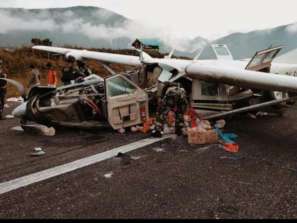 4 Fakta Pesawat Celaka Tewaskan Pilot di Ilaga Papua