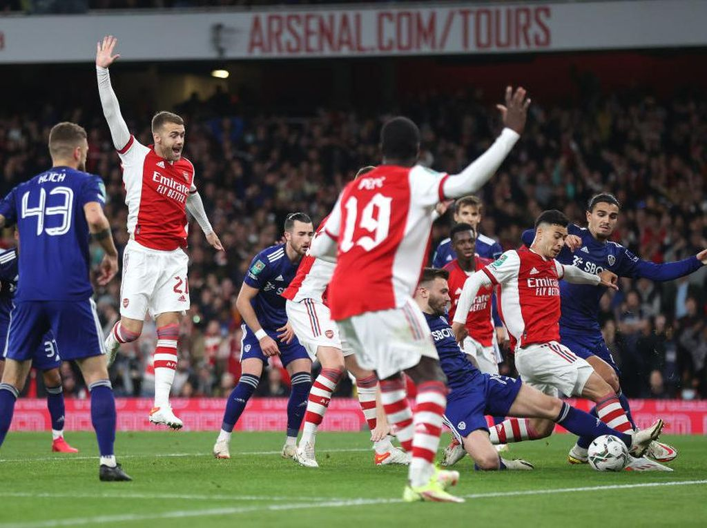 Piala Liga Inggris: Arsenal Kalahkan Leeds 2-0, Lolos ke Perempatfinal