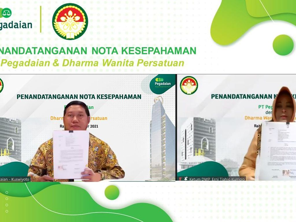 Pegadaian Gandeng Istri-istri Menteri Garap Inklusi Keuangan