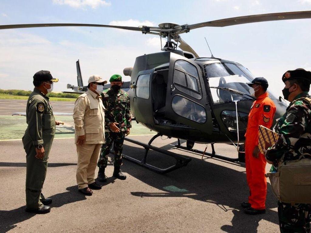 2 Helikopter Selesai Overhaul, Prabowo: Rakyat Ingin Alutsista Dirawat