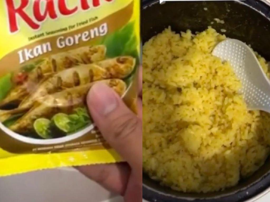 Pakai Bumbu Ikan Goreng Instan, Anak Kos Ini Bisa Bikin Nasi Kuning Enak