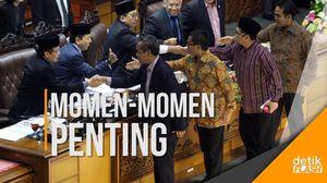 Momen-momen Paripurna Pengesahan UU Pemilu