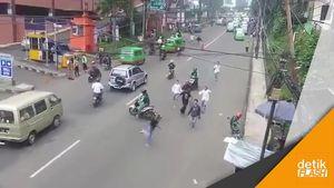 Driver Grab Pemberani, Bubarkan Tawuran Pelajar di Bogor