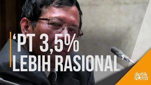 Mahfud: PT 0% Sulit, Partai Belum Teruji Bisa Ajukan Calon