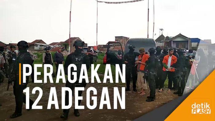 Densus 88 Rekonstruksi Penangkapan Teroris yang Incar Istana Negara
