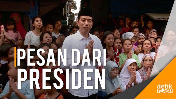 Ucapan Selamat Hari Raya Idul Fitri 1438 H dari Presiden Jokowi