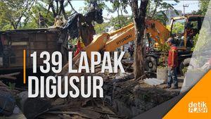 Demi Normalisasi Saluran Air, Pemkot Surabaya Bongkar 139 Lapak