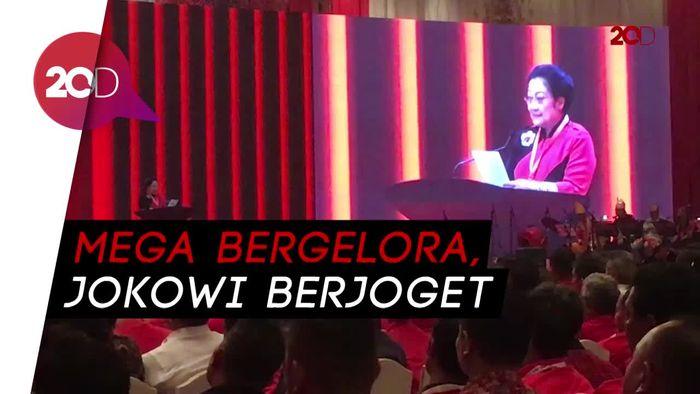 HUT ke-45 PDIP, Semangatnya Megawati dan Goyang Maumere Jokowi