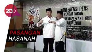 TB Hasanuddin-Anton Daftar ke KPU Jabar