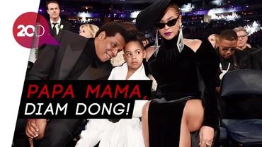Aksi Lucu Blue Ivy Minta Jay-Z dan Beyonce Diam di Grammy 2018