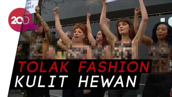 Demo Telanjang di Ajang London Fashion Week