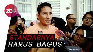 Sandi: Pedagang Kios Sudirman-Thamrin Harus Tersertifikasi