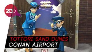 Unik! Bandara di Jepang ini Semua Sudutnya Dihiasi Conan