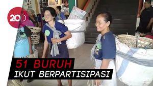 Keseruan Fashion Show ala Buruh Gendong Pasar Beringharjo
