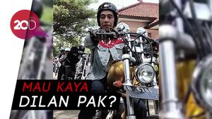 Gaya Jokowi Touring Naik Chopper Emas ke Palabuhanratu