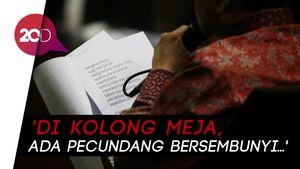 Tutup Pembacaan Pleidoi, Novanto Bacakan Puisi Di Kolong Meja