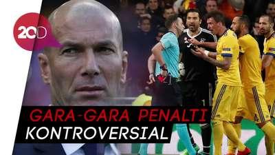 Zidane Berang Madrid Disebut Merampok Kemenangan Juve di Champions