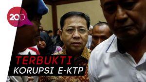 Tok! Setya Novanto Divonis 15 Tahun Penjara