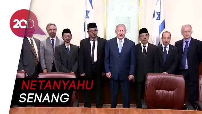 Momen Aam PBNU Yahya Cholil Staquf Bertemu PM Israel
