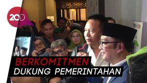 Tb Hasanuddin Datang ke Posko dan Ucapkan Selamat ke Ridwan Kamil