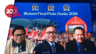 Ketua MPR-DPR-DPD Kompak Nobar Final Piala Dunia