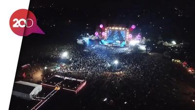 Melihat Ramainya Nobar Piala Dunia di Sunburst dari Lensa Drone