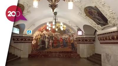 Maha Karya Seni di Kereta Bawah Tanah Rusia