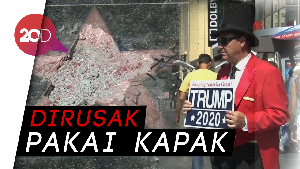 Hollywood Walk of Fame Trump Hancur Tak Berbentuk
