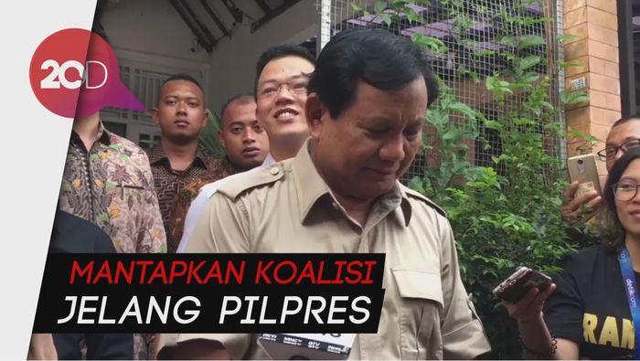 Malam Ini, Prabowo Kumpulkan Partai Koalisi