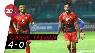 Indonesia Pecundangi Taiwan di Laga Perdana Asian Games