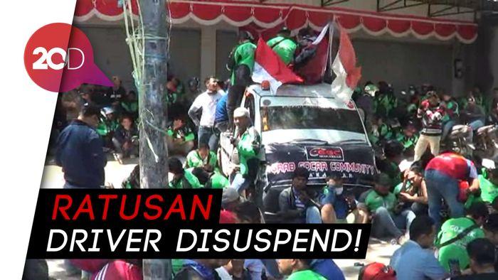 Driver Go-Jek Makassar Demo Masalah Poin dan Suspend Massal