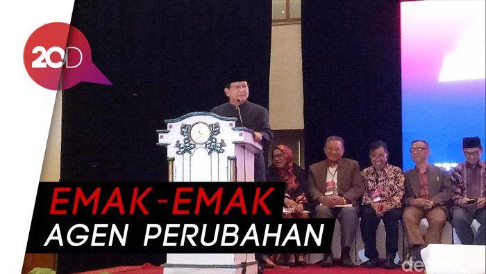 Saat Prabowo Singgung The Power of Emak-emak