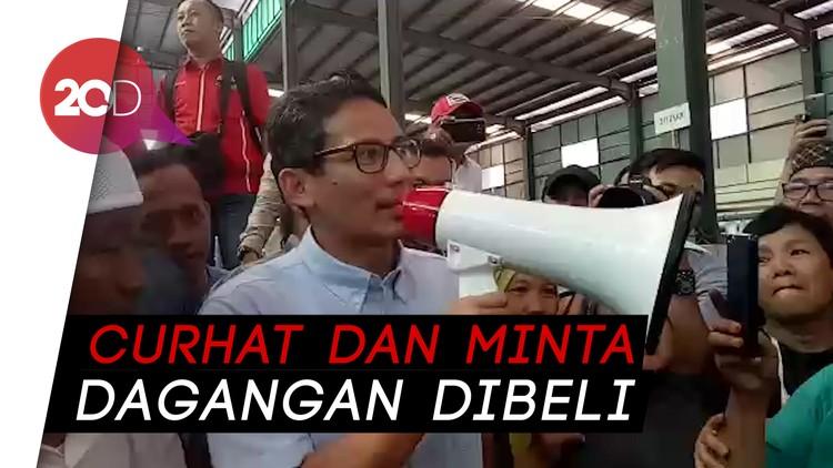 Antusiasme Emak-emak Pedagang Pasar Palembang Didatangi Sandi
