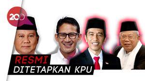 Sah! Jokowi-Ma'ruf dan Prabowo-Sandiaga Sebagai Capres-Cawapres 2019