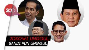 Indikator: Citra Jokowi Ungguli Prabowo, Sandi Ungguli Maruf