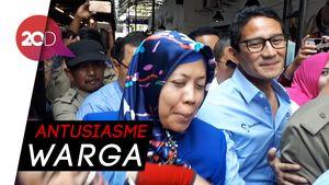 Kampanye di Surabaya, Sandiaga Diserbu Emak-emak