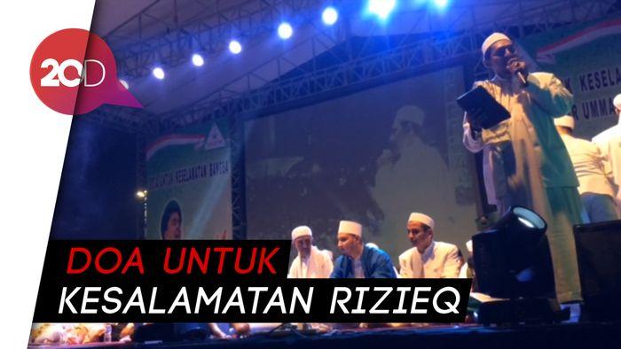 Monas Banjir Orang Doakan Habib Rizieq