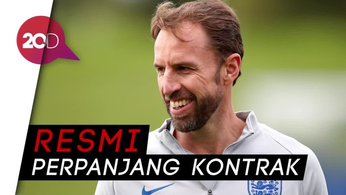 Southgate akan Tangani Inggris hingga Piala Dunia 2022