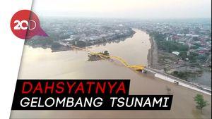 Detik-detik Ambruknya Jembatan Kuning Ponulele Dihantam Tsunami