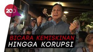 Berulang Tahun, Prabowo Orasi soal Kemiskinan di Dalam Mal