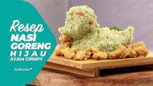 Resep Nasi Goreng Hijau Ayam Crispy Bentuk Bebek