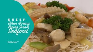 Resep Bihun Goreng Kering Siram Seafood