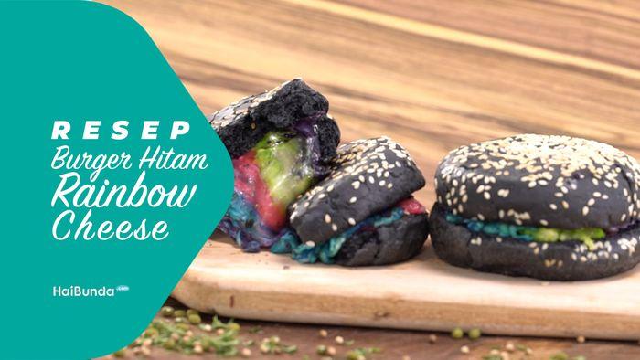 Resep Burger Hitam Rainbow Cheese