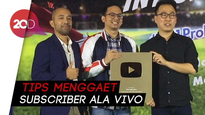 Capai 1 Juta Subscriber, Vivo Indonesia Boyong Penghargaan