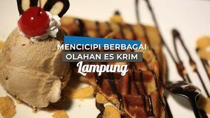 Mencicipi Berbagai Olahan Es Krim, Lampung