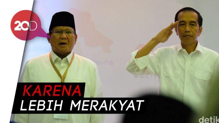 Survei Median: Jokowi Ungguli Prabowo di Jawa dan Desa
