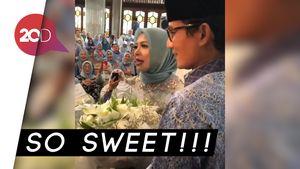 Kejutan Sandi Beri Bunga Ucapan Ultah ke Istri Bikin Baper Netizen
