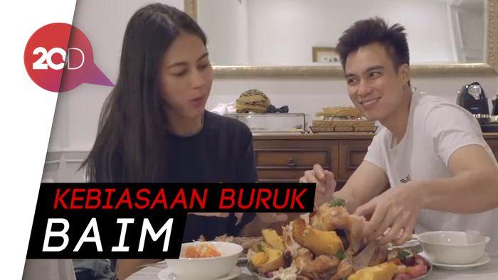 Sambil Mukbang, Paula dan Baim Wong Cerita Momen Malam Pertama